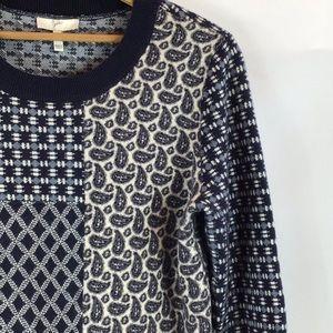 Joie Cashmere Paisley Crew Neck Sweater